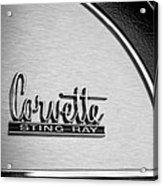 1967 Chevrolet Corvette Glove Box Emblem Acrylic Print by Jill Reger