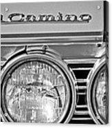 1967 Chevrolet El Camino Pickup Truck Headlight Emblem Acrylic Print