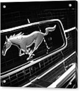 1967 Ford Mustang Gt Grille Emblem Acrylic Print