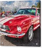 1967 Ford Shelby Mustang Gt500 Painted  Acrylic Print