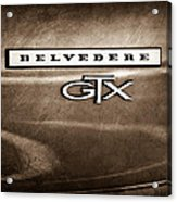 1967 Plymouth Gtx Belvedere Emblem Acrylic Print