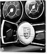 1967 Porsche 911 Coupe Steering Wheel Emblem Acrylic Print