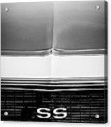 1968 Chevrolet Camaro Ss Grille Emblem Acrylic Print