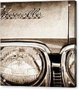 1968 Chevrolet Chevelle Hood Emblem Acrylic Print