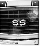 1969 Chevrolet Camaro Rs-ss Indy Pace Car Replica Grille Emblem Acrylic Print