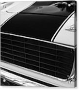 1969 Chevrolet Camaro Rs-ss Indy Pace Car Replica Grille - Hood Emblems Acrylic Print