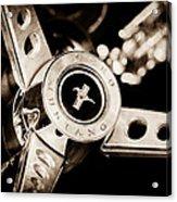 1969 Ford Mustang Mach 1 Steering Wheel Acrylic Print by Jill Reger