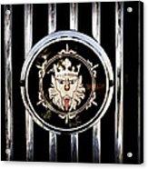 1969 Morgan Roadster Grille Emblem Acrylic Print