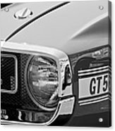 1969 Shelby Gt500 Convertible 428 Cobra Jet Grille Emblem Acrylic Print by Jill Reger