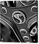 1969 Shelby Gt500 Convertible 428 Cobra Jet Steering Wheel Emblem Acrylic Print