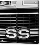 1970 Chevrolet Chevelle Ss 454 Grille Emblem Acrylic Print
