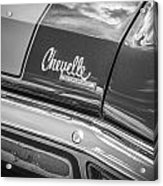 1970 Chevy Chevelle 454 Ss Bw  Acrylic Print