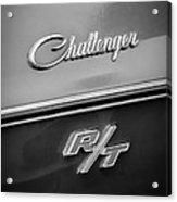 1970 Dodge Challenger Rt Convertible Emblem Acrylic Print