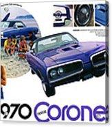 1970 Dodge Coronet Super Bee Acrylic Print