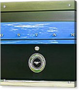 1970 Ford Mustang Boss 302 Fastback Taillight Emblem Acrylic Print