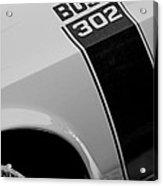 1970 Ford Mustang Sportsroof Boss 302 Emblem Acrylic Print