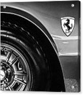 1971 Ferrari Dino Gt Wheel Emblem -027c Acrylic Print