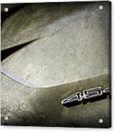 1972 Chevrolet Corvette Convertible Stingray 454 Hood Emblem Acrylic Print
