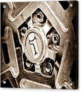 1972 Detomaso Pantera Wheel Emblem Acrylic Print