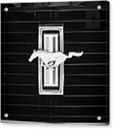 1972 Ford Mustang Boss 302 Grille Emblem Acrylic Print