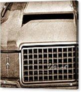 1972 Oldsmobile Grille Emblem Acrylic Print
