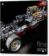 1974 Lola T332  F5000 Race Car V8 5 Litre Chassis Acrylic Print