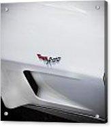 1977 White Corvette Acrylic Print
