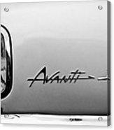 1978 Avanti II Headlight Emblem Acrylic Print