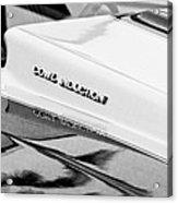 1980 Chevrolet Malibu Ss Cowl Induction Hood Emblem Acrylic Print