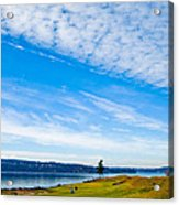 #2 At Chambers Bay Golf Course - Location Of The 2015 U.s. Open Tournament Acrylic Print