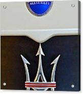2005 Maserati Mc12 Hood Emblem Acrylic Print