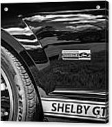 2007 Ford Mustang Shelby Gt500 Painted Bw  Acrylic Print