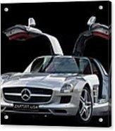 Mercedes Benz S L S  Gull-wing Acrylic Print