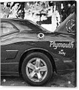 2010 Plymouth Superbird Bw  Acrylic Print