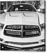 2014 Dodge Charger Rt Painted Bw Acrylic Print