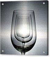 3 Wine Glasses Acrylic Print