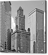 35 East Wacker Chicago - Jewelers Building Acrylic Print by Christine Till
