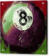 8 Ball Billiards Abstract Acrylic Print