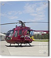 A Bo 105pah Helicopter Of The German Acrylic Print