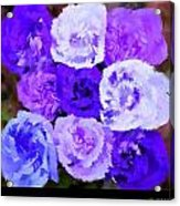 A Bouquet For You Blue Acrylic Print
