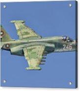 A Bulgarian Air Force Su-25 In Flight Acrylic Print
