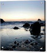 A Landscape Of Rocks On The Coast Acrylic Print