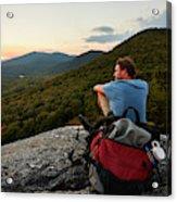A Man Hikes Along The Appalachian Trail Acrylic Print