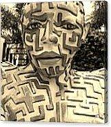 1 A Maze Ing Man Sepia Acrylic Print