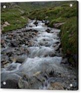 A Mountain Stream In Vanoise National Acrylic Print