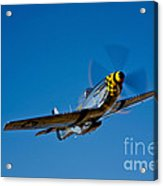 A P-51d Mustang Kimberly Kaye In Flight Acrylic Print