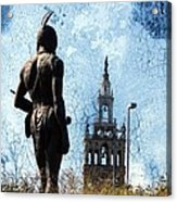 A Plaza View Acrylic Print