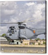 A Spanish Navy Sh-3d Helicopter Acrylic Print