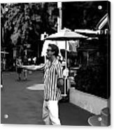 A Street Entertainer In The Hollywood Section Of Universal Studios Acrylic Print