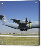 A Turkish Air Force A400m Landing Acrylic Print